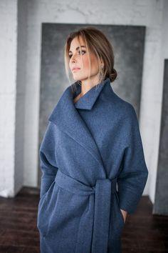 Пальто с поясом (рукав 3/4, разные цвета)