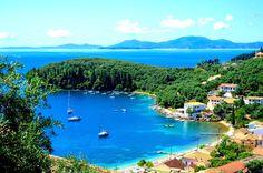 Beautiful Kalami village and beach, Corfu