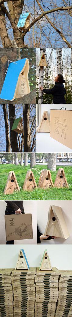 Birdhouse and bird feeders on Industrial Design Served