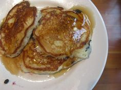 Improved Aunt Jemima pancakes - this recipe is fantastic if you dont have time to make them from scratch, or are intimidated by pancakes. They turn out so fluffy and thick, with a crisp and buttery crust!