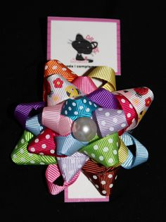 Pompon Multicolor   Bow