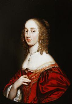 A portrait of a noblewoman, half length, 1649 by Gerrit van Honthorst