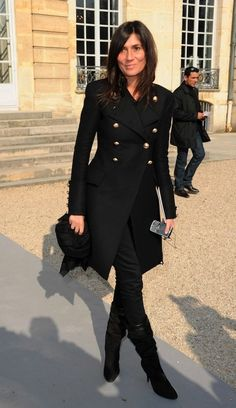 Emmanuelle Alt.  EPIC WIN!!!  #epic  #win  #fashion  #style  #black  #blackandwhite  #winter