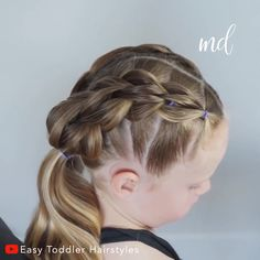 Girl hairstyles 824088431798457390 - Your little ones will adore this cute and easy to do hairstyle 😍 By: Toddler Hairstyles Source by metdaan Toddler Hair Dos, Easy Toddler Hairstyles, Easy Little Girl Hairstyles, Girls Hairdos, Girls School Hairstyles, Easy Hairstyles For Kids, Cute Girls Hairstyles, 9 Year Old Hairstyles, Hairstyle For Kids