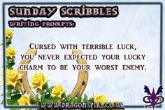 'Cursed with terrible luck, you never expected your lucky charm to be your worst enemy. Fun Writing Prompts, Cool Writing, Never Expect, You Never, Worst Names, Lucky Charm, Scribble, Short Stories, Give It To Me