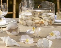 beachy ...great idea for center pieces for our women's retreat!