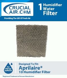 High Quality Humidifier Filter Water Panel Pad Designed To Fit Aprilaire Humidifier Models 110, 220, 500, 550, 558 ; Compare To Aprilaire 10 Water Panel Part by Crucial Air. $9.95