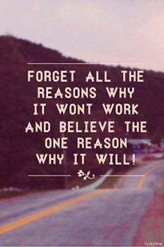 …it will work...