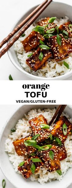 This Orange Tofu recipe is easy to make and is a tasty weeknight dinner that everyone will enjoy! This Orange Tofu recipe is easy to make and is a tasty weeknight dinner that everyone will enjoy! Orange Tofu Recipe, Orange Recipes, Tofu Dishes, Vegan Dishes, Vegetarian Recipes, Healthy Recipes, Vegan Recipes Lose Weight, Tofu Dinner Recipes, Chicken Recipes