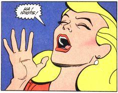 Vintage Comic -- Laughing girl