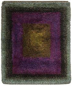 Rya Rug, Wool Rug, Geometry Art, Bukowski, Malta, Fiber Art, Weaving, Auction, Rugs