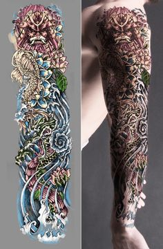 Tattoo Images Ideas Japanese Sleeve Tattoo Black And White Wallpaper