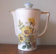Vintage W. Duke Downs Hand Painted Floral Ceramic Coffee / Chocolate Pot from WhimsicalVintage Exclusively on Ruby Lane