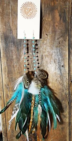 The Lost Mermaid Handmade Extra Long Chain Feather by Cloud9Jewels