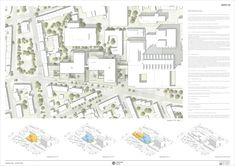 1. Preis: © gmp Architekten von Gerkan, Marg und Partner Project Presentation, Floor Plans, Medical, How To Plan, Drawing, Projects, Architecture, Log Projects, Blue Prints