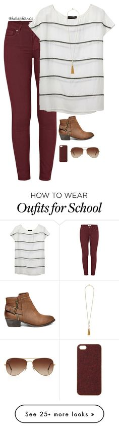 """""""Only 1 more week of school!!"""" by haleyfrancis on Polyvore featuring Paige Denim, Thakoon, Vince Camuto, Steve Madden, Scotch & Soda and Rayban"""