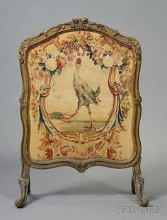 Louis XV Carved Giltwood Fire Screen, France, 18th century,