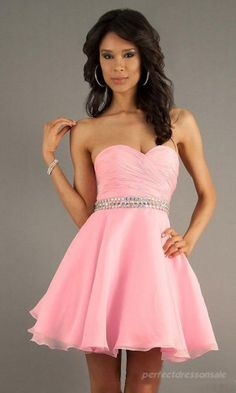 I love this shade of pink and the style of the dress.