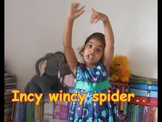 English action song for kids - Incy Wincy spider..                          #actionsong #kidshappiness #rhymes