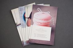 photography promo cards by Nicole Ziegler, via Flickr (with stitching--colored or gold!)