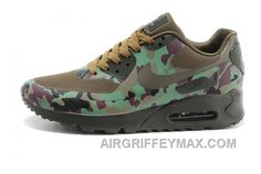 the latest f90ec ad7e0 Soldes Magasiner Pas Cher Nike Air Max 90 Hyperfuse Homme Camo Olive  Chaussures Prix New