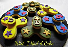 Fidget Spinner Cookies by Wish I Had A Cake