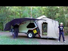 The Track Trailer Tvan Camper Trailer was the first of it's kind in the off road market. Released in 2000 it features off road MC2 Military Suspension.