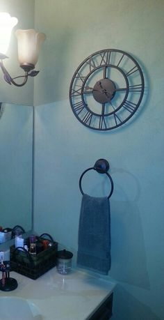 Use an outdoor clock in a small bathroom that always fogs up your clock Get a Bathroom Clock and Limit Your Time Spent There    Clocks and  . Small Bathroom Clocks. Home Design Ideas