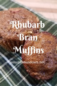 Today we're sharing a recipe for rhubarb bran muffins. Even picky eaters won't be able to tell you've added rhubarb or know how healthy these muffins are! Healthy Rhubarb Recipes, Healthy Muffin Recipes, Fun Baking Recipes, Low Sugar Recipes, Fruit Recipes, Healthy Bran Muffins, Sweet Recipes, Rhubarb Desserts, Snack Recipes