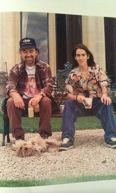 George Harrison and Dhani Harrison hanging out with dog. Beatles Love, John Lennon Beatles, Beatles Photos, Great Bands, Cool Bands, Stevie Ray Vaughan, The Fab Four, Ringo Starr, Shows