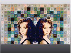 Olivia: Aquarius, 51 x 29 inches, computer digitized machine embroideries on cotton.