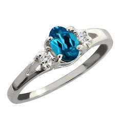 0-59-Ct-London-Blue-Oval-Topaz-and-White-Diamond-Sterling-Silver-Ring