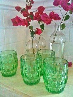 depression glass tumblers