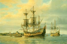 "The captain of the ship that brought the first sizable group of Jews to North America petitioned for payment of their fare on this date in 1654. These ""23 souls, big and little"" were passengers in a convoy of sixteen ships carrying Dutch colonists from Recife, Brazil back to Holland in the wake of Portugal's reconquest of Recife."