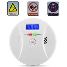 [US$15.40] Carbon Monoxide Detector Smoke Fire Alarm Sound Combo Sensor Battery Operated #carbon #monoxide #detector #smoke #fire #alarm #sound #combo #sensor #battery #operated