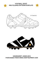 Football Boot Fancy Folding/iris Folding Pattern
