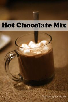 Hot chocolate mix recipe without powdered milk.  Just uses powdered cocoa, sugar and salt.  Pretty good!