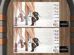 JUST DESIGN - heels/fatpack, 495L each/895L