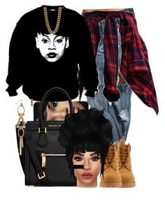 """""""4/26/15 - RIP LEFT EYE ❤️"""" by jasmineharper ❤ liked on Polyvore featuring MICHAEL Michael Kors, King Ice and Timberland"""