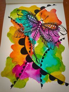Watercolour doodle !! (Prima watercolors, ecoline watercolor pens, and black gel pen) @primamarketinginc @prima_mixedmedia @royaltalens #artist #color #colour #abstract #abstractwatercolor #ecoline #ecolinewatercolorpens #gelpens #journal #journaling #layers #mixedmedia #mixedmediaart #mixedmediaartist #paint #pens #doodle #doodlesofinstagram #doodleart #watercolor #watercolour #primawatercolors