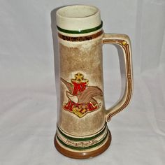 1993 Anheuser Busch Budweiser Brewery Green Cross For Safety Stein 10 Years