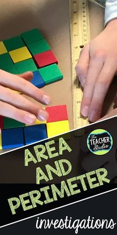 Teaching area and perimeter should be a hand on, problem solving experience! Check out this post with area and perimeter lessons and activities plus some of the misconceptions that can get in the way of student learning! Area,perimeter, constructivist math