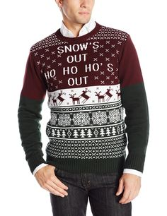 Ugly Christmas Sweater Men's Snows Out, Port, XX-Large: Pullover sweater with humorous Christmas design featuring ribbed crew neckline, sleeve cuffs, and hem Classy Christmas, Christmas Fashion, Christmas Side, Christmas Design, Xmas, Ugly Sweater, Pullover Sweaters, Men Sweater, Best Ugly Christmas Sweater