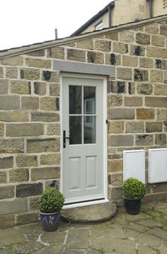 Browse our range of installations of timber windows and doors to get inspired and find your new front door or window replacement. Timber Front Door, Front Door Porch, Front Doors With Windows, Front Porch Design, Timber Windows, Sash Windows, Cottage Front Doors, Victorian Front Doors, Cottage Door