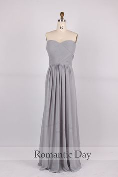 2014 Hot Sale Gray Chiffon Bridesmaid dresses/gray bridesmaid dress party/evening dress prom/plus size maxi dress 0224 Nice Long Dresses, Prom Dresses For Teens, Cheap Prom Dresses, Dress Long, Grey Bridesmaids, Beautiful Bridesmaid Dresses, Beautiful Dresses, Gorgeous Dress, Prom Dresses Jovani