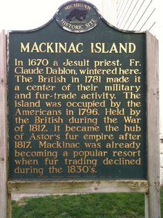 Mackinac Island Historical Marker, Mackinac Island, MI