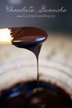 Easy Chocolate Ganache from CupcakeDiariesBlog.com #easyganache #chocolateganache