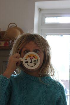 funny tiger mug