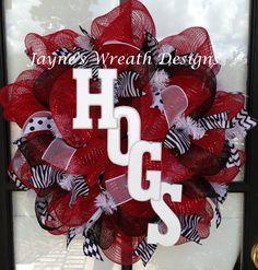 """Arkansas Razorbacks Wreaths """"HOGS""""   Jayne's wreath designs on fb"""