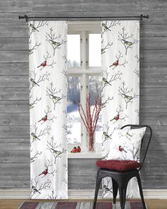 Linea - Paneeliverhot Talvilinnut 2/pak Curtains, Home Decor, Blinds, Decoration Home, Room Decor, Draping, Tents, Picture Window Treatments, Sheet Curtains